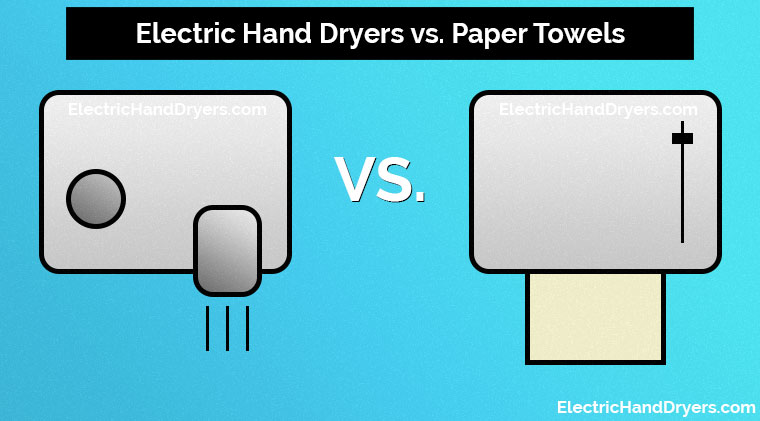 Electric Hand Dryers vs. Paper Towels