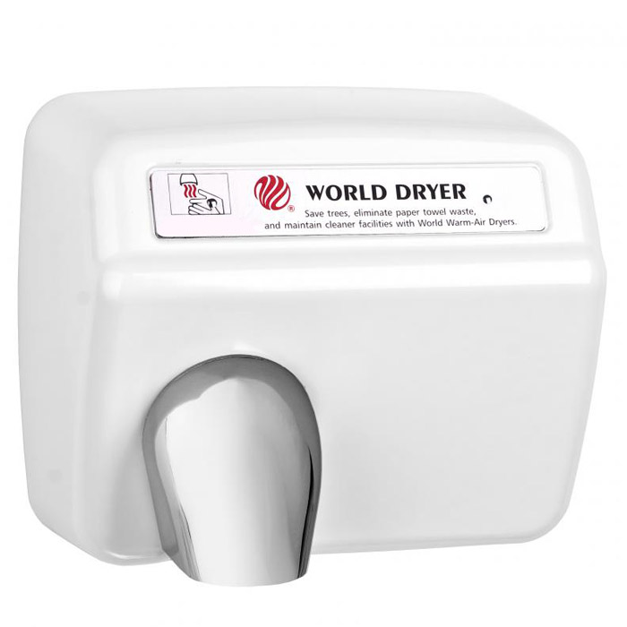 World Dryer Model XA Automatic Hand Dryer White